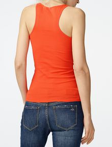 ARMANI EXCHANGE Ribbed Racerback Tank Tank top [*** pickupInStoreShipping_info ***] r