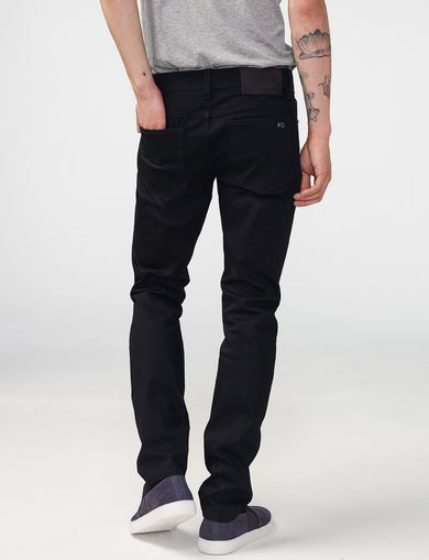 ARMANI EXCHANGE Yarn-Dye Black Skinny Jean Man retro