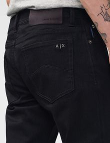 ARMANI EXCHANGE Yarn-Dye Black Skinny Jean Skinny Fit Denim U e