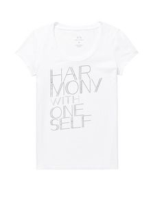 ARMANI EXCHANGE Harmony Mantra Tee Graphic T-shirt Woman d
