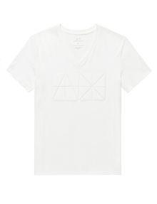 ARMANI EXCHANGE Tonal Logo Print Tee Graphic T-shirt Man d