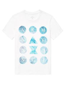 ARMANI EXCHANGE Hidden Pool Logo Tee Graphic Tee U d