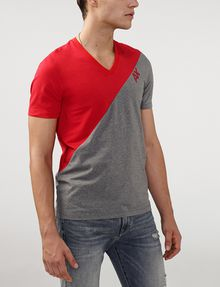 ARMANI EXCHANGE Sporty Diagonal Colorblock Tee Short Sleeve Tee Man d