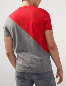 ARMANI EXCHANGE Sporty Diagonal Colorblock Tee Short Sleeve Tee Man r