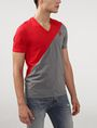 ARMANI EXCHANGE Sporty Diagonal Colorblock Tee Short Sleeve Tee U d