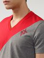 ARMANI EXCHANGE Sporty Diagonal Colorblock Tee Short Sleeve Tee U e