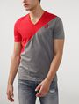ARMANI EXCHANGE Sporty Diagonal Colorblock Tee Short Sleeve Tee Man f