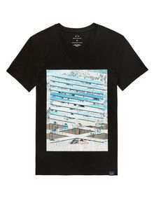 ARMANI EXCHANGE Horizon Break Tee Graphic T-shirt Man d