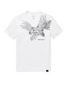 ARMANI EXCHANGE Intricate Eagle V-Neck Graphic Tee U d