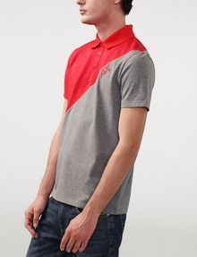 ARMANI EXCHANGE Diagonal Colorblock Logo Polo Short-sleeved polo U d