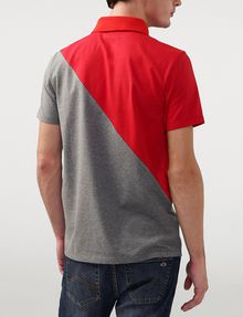 ARMANI EXCHANGE Diagonal Colorblock Logo Polo Short-sleeved polo U r