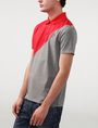 ARMANI EXCHANGE Diagonal Colorblock Logo Polo Short-sleeved polo U d