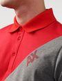 ARMANI EXCHANGE Diagonal Colorblock Logo Polo Short-sleeved polo U e