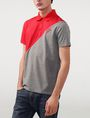 ARMANI EXCHANGE Diagonal Colorblock Logo Polo Short-sleeved polo U f