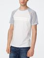 ARMANI EXCHANGE Negative Space Raglan Tee Graphic Tee U f