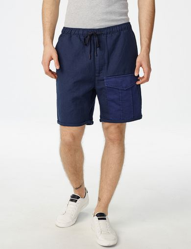 ARMANI EXCHANGE Linen Utility Short Man front