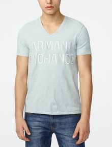 ARMANI EXCHANGE Trifecta Logo Tee Graphic Tee U f