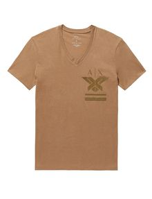 ARMANI EXCHANGE Tonal Insignia Tee Short Sleeve Tee Man d