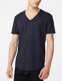 ARMANI EXCHANGE Seamed Arm V-Neck Basic Tee U f
