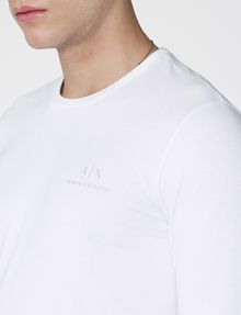 ARMANI EXCHANGE Long-Sleeve Layering Crew Long Sleeve tee U e