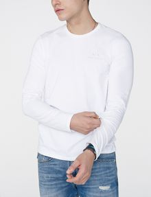 ARMANI EXCHANGE Long-Sleeve Layering Crew Long Sleeve tee U f