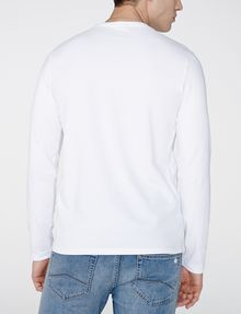 ARMANI EXCHANGE Long-Sleeve Layering Crew Long Sleeve tee U r