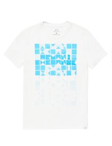 ARMANI EXCHANGE Block Stack Logo Tee Graphic Tee U d