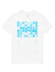 ARMANI EXCHANGE Block Stack Logo Tee Graphic T-shirt U d