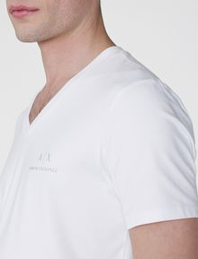 ARMANI EXCHANGE Signature A|X V-Neck Short Sleeve Tee U e