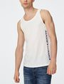 ARMANI EXCHANGE Stencil Logo Tank Graphic T-shirt Man f