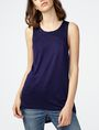 ARMANI EXCHANGE Seamed High-Low Tank Tank top D f