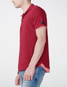 ARMANI EXCHANGE Two-Layer Shirttail Polo SHORT SLEEVES POLO Man d