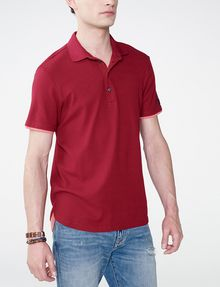 ARMANI EXCHANGE Two-Layer Shirttail Polo SHORT SLEEVES POLO Man f