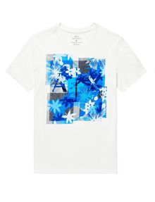 ARMANI EXCHANGE Hibiscus Logo Crew Graphic T-shirt U d