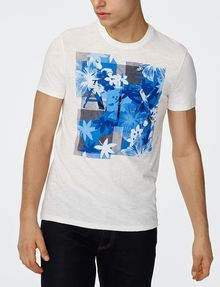ARMANI EXCHANGE Hibiscus Logo Crew Graphic T-shirt U f