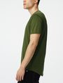 ARMANI EXCHANGE Short-Sleeve Seamed Arm Henley Short Sleeve Tee U d