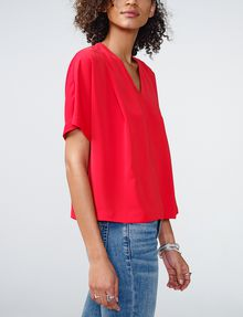 ARMANI EXCHANGE Breezy V-Neck Top Blouse Woman d