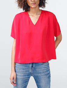 ARMANI EXCHANGE Breezy V-Neck Top Blouse D f