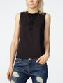 ARMANI EXCHANGE Mesh Inset Shell Shell Woman f