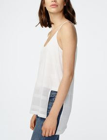 ARMANI EXCHANGE Mesh High-Low Cami Cami Woman d