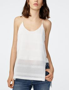 ARMANI EXCHANGE Mesh High-Low Cami Cami Woman f