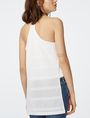 ARMANI EXCHANGE Mesh High-Low Cami Cami Woman r
