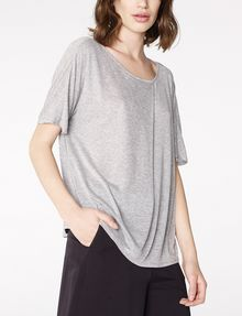 ARMANI EXCHANGE Pleated Short-Sleeve Dolman Top Blouse D f