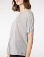 ARMANI EXCHANGE Pleated Short-Sleeve Dolman Top Blouse D e