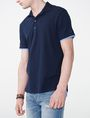 ARMANI EXCHANGE Two-Layer Shirttail Polo Short-sleeved polo U d