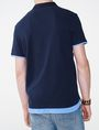 ARMANI EXCHANGE Two-Layer Shirttail Polo Short-sleeved polo U r