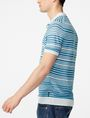 ARMANI EXCHANGE Variegated Linen Polo Pullover U d