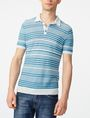 ARMANI EXCHANGE Variegated Linen Polo Pullover U f