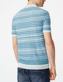 ARMANI EXCHANGE Variegated Linen Polo Pullover U r