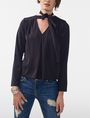 ARMANI EXCHANGE Tie-Neck Blouse Blouse D f